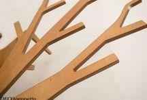 ΚΑΛΟΓΕΡΟΣ -  TREE / Καλόγερος σε σχήμα δένδρου από κόντρα πλακέ σημύδας   , δυνατότητα επιλογής χρώματος  , σχεδίαση και κατασκευή δια χειρός DECOgeppetto