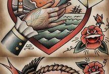OldSchool Couple Tattoos