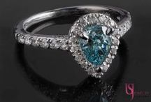 Fancy Color Diamond Engagement Rings / At US Jewelry Factory we cover the range from your pinks, blues and yellows for our daring brides who won't settle for  ordinary. Visit www.usjewelryfactory.com to view our full selection.