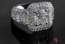 Our Exclusive Diamond Engagement Rings Collection / We've covered all the ranges from different diamond shapes that will add to the magic of that special day. Visit www.usjewelryfactory.com to view our full selection of cushion, emerald, heart shaped diamonds and more.