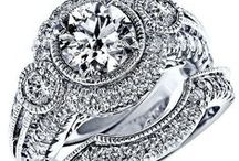 Engagement Ring and Wedding Band Set / Enhance the look of your engagement ring with a matching wedding band. We have a range of diamond engagement rings and diamond encrusted wedding band sets. Visit www.usjewelryfactory.com for our full selection of engagement/wedding band sets.