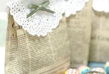 Clever handmade gift wrap ideas / Ideas for putting that special touch on a gift that says ....you matter to me