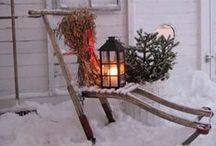 talvi- ja syyspihan koristelu - winter- and autumn decoration outside