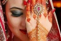 Wedding Henna Design / Henna or Mehendi is the design artwork in Indian's brides hands... It is said in India that if the henna color becomes red or black, then the groom will love the bride forever... Bless the newly married couple.. #Henna #Indian #wedding #SevenPromises / by SevenPromises