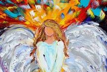 Angelic Realm / #Angels and #harps and #Angelic beings...