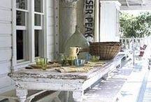 vanhan talon pation ja puutarhan ideat - Ideas for old farmhouses terrace and garden / Millaista voisi olla Runotalon ulkopuolella, entä lopullisen Runotalon puutarhassa?