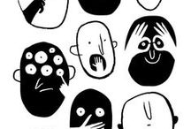 Illustration + Art / Rough, realistic, sketchy, cartoon, black and white, vivid...