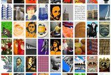 Foto schilderijen Typisch Nederland / Verschillende fotoschilderijen met telkens een ander thema. Typisch Nederlands, Typisch Italiaans, Typisch Arnhem, Typisch Den Haag, Goudvissen, Postzegels Holland Vogels