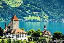 Switzerland is Breathtaking / Beautiful scenic Switzerland with its choice city, St Maritz.
