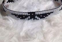 Beads bracelet.. Woven by me. / Armbandjes weven met kralen.