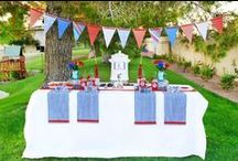4th of July Festivities / Everything Red, White and Blue! Throw a 4th of July Celebration that will WOW you guests and don't blow your budget out of the water. Check out some fun party ideas, decorating themes, yummy treats and more!