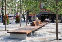 custom made public benches | maatwerk banken / Straatmeubilair gemaakt door Grijsen park & straatdesign.  #Streetfurniture made by Grijsen park & straatdesign. #Urban furniture, #Landscapedesign, #Architecture