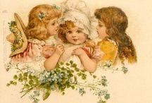 Vintage Kids & Cuties / Children, cherubs, angels, fairies, etc from the Victorian era.
