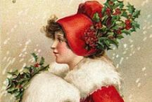 Vintage Christmas / . . . and New Year.  Olde time postcards of a favourite time of year.