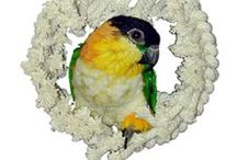 Snugglies for Your Bird / Caged birds, especially when they are alone, like to snuggle up to or crawl into something soft and cuddly. This alleviates their stress and provides them with a sense of security.