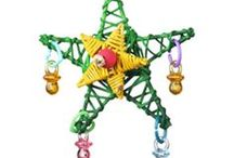 Holiday Bird Toys / Make your bird's cage come alive this holiday season with one of our festive XMAS toys!