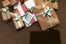 Gift wraps Christmas / Christmas wrapping ideas and crafts.