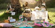 Picnics / Food, dinner ware, and beautiful places...the experience of eating outside