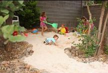 sandpits and outdoor play areas