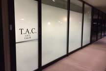 Making this office POP! / Increasing Visual appeal to a storefront well providing privacy and maintaining natural light and rebranding this office with frost window film