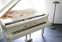 """Pianoforte! / Playing """"pure pianoforte""""...a lifelong love affair for me (it's like a harp, horizontal). I will never, ever end a boundless appreciation for, and rejoicing in, """"my precious piano!"""" / by Ann Elizabeth Blair Watt"""