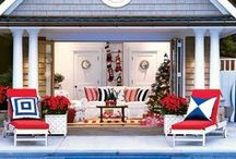 Celebrate America / Outdoor furnishings in red, white and blue