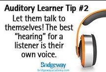 Auditory Learning Style Tips / Need some tips for your Auditory learner?  Check out these helpful tricks to enjoy your homeschooling year!