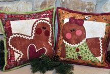 My Christmas Winter Designs / These are some of the projects from my Hugs & Holly book, as well as some of my pattern designs.  www.thewoodenbear.com