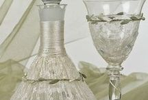 Greek Wedding Accessories / Wine glasses sets, decanters, champagne glasses, trays and other wedding accessories from Greece