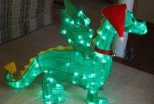 Drake Enterprises Christmas Dragon / Our Dragon decked out for Christmas