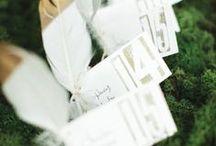 escort cards / wedding inspirations