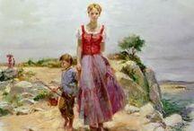 Beautiful Oil Paintings by : Pino Daeni / Pino Daeni(1939 – 2010) – Italian artist