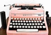 Typewriters / A collection of typewriters and related ephemera.  We love using our vintage typewriter to type up the quotes and poems that go inside/on each of our products.