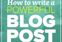 Blogging / Tips on how to start and improve your blog.