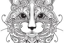 Free adult coloring pages / Free printable/downloadable pages