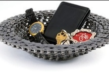 Our Masterpieces  / All of our products are handmade in Oregon, USA, from recycled bike parts.