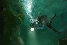 Underwater / inspiration for my new idea about magic underwater world