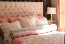 Spare Bedroom / Pale pink and light grey bedroom.