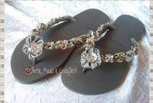 Havaianas customizadas Slim / Havaianas Customizadas Slim bordadas, decoradas e lindas para curtir muitas ocasiões com conforto e estilo!