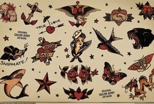 Traditional Tattoo Art / Traditional Sailor Jerry type tattoo art. / by My Husband Ate All My Ice Cream