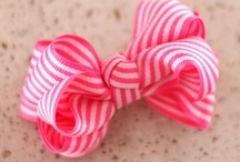 Bows, Ribbons & Flowers oh my! / Want to make baby headbands, clips, ribbons, etc... maybe turn it into a paid hobby? / by Jenni Hooper