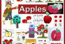 Apples Preschool Activities / Apples and Johnny Appleseed crafts, activities, folder games, lessons, science, emergent readers, artworks for preschool and kindergarten.