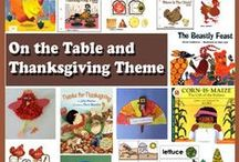 On the Table and Thanksgiving / The little red hen, harvest, on the table and nutrition, corn exploration, and Thanksgiving crafts, activities, lessons, folder games, worksheets, printables for preschool and kindergarten. Aligned to the Kindergarten common core state standards.