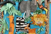 Going on a Safari - Preschool and Kindergarten crafts and activities / Safari and jungle crafts, activities, games, printables for preschool and kindergarten. Lots of fun giraffe resources and ideas.
