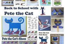 Pete the Cat / Back to school with Pete the Cat. Rocking in My School Shoes. Pete the Cat activities, crafts, folder games, bulletin boards, games, printables and so much more for preschool and kindergarten.