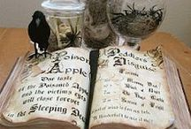 Potions bottles and witch books / Harry Potter and Halloween props / by Sydni Abrahamsen