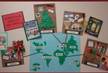 Christmas Around The World in Preschool and Kindergarten / Preschool and kindergarten Christmas Around the World activities, games, crafts, emergent reader, and printables. Children will join Santa Claus as he travels around the world to learn about their holiday traditions and celebrations.