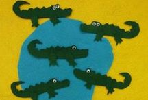 Alligators and Crocodile crafts and activities / A for Alligator crafts, activities, science lessons, folder games, printables and many more great ideas for preschool and kindergarten.