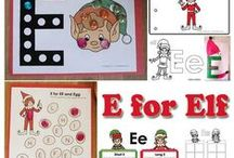 Elf on the shelf Preschool and Kindergarten Activities and Crafts / Elf on the shelf preschool theme and kindergarten activities, lesson plans, games, crafts, coloring pages, and printables. E for elf and other fun elves learning activities.