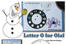 Preschool Frozen Activities, Crafts, and Games / Frozen, Olaf, Elsa, and ice activities, crafts, lessons, worksheets, coloring pages, and other great ideas for preschool and kindergarten.